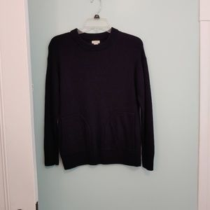 J. Crew sweater, S, black, two front pockets